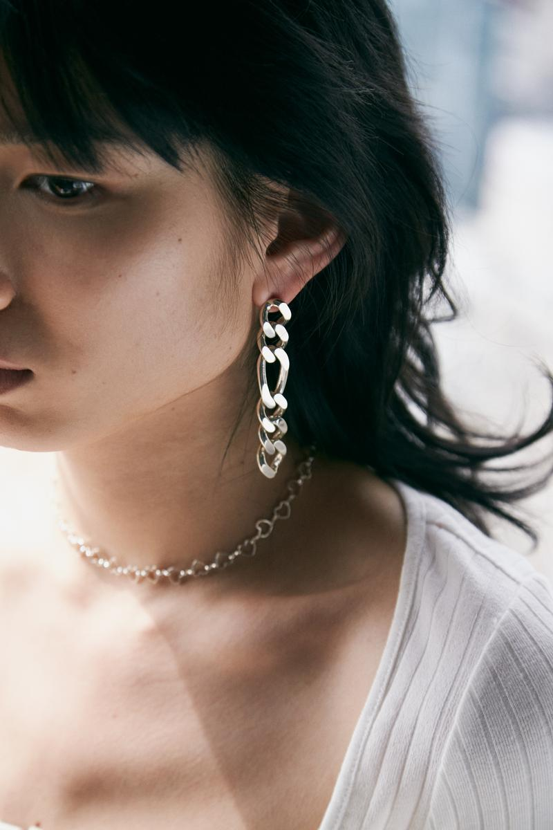 Numbering Spring Summer 2019 Lookbook Chain Earring Silver
