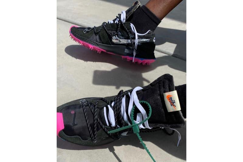 Off White x Nike Zoom Terra Kiger 5 Black Metallic Silver White Pink Blast