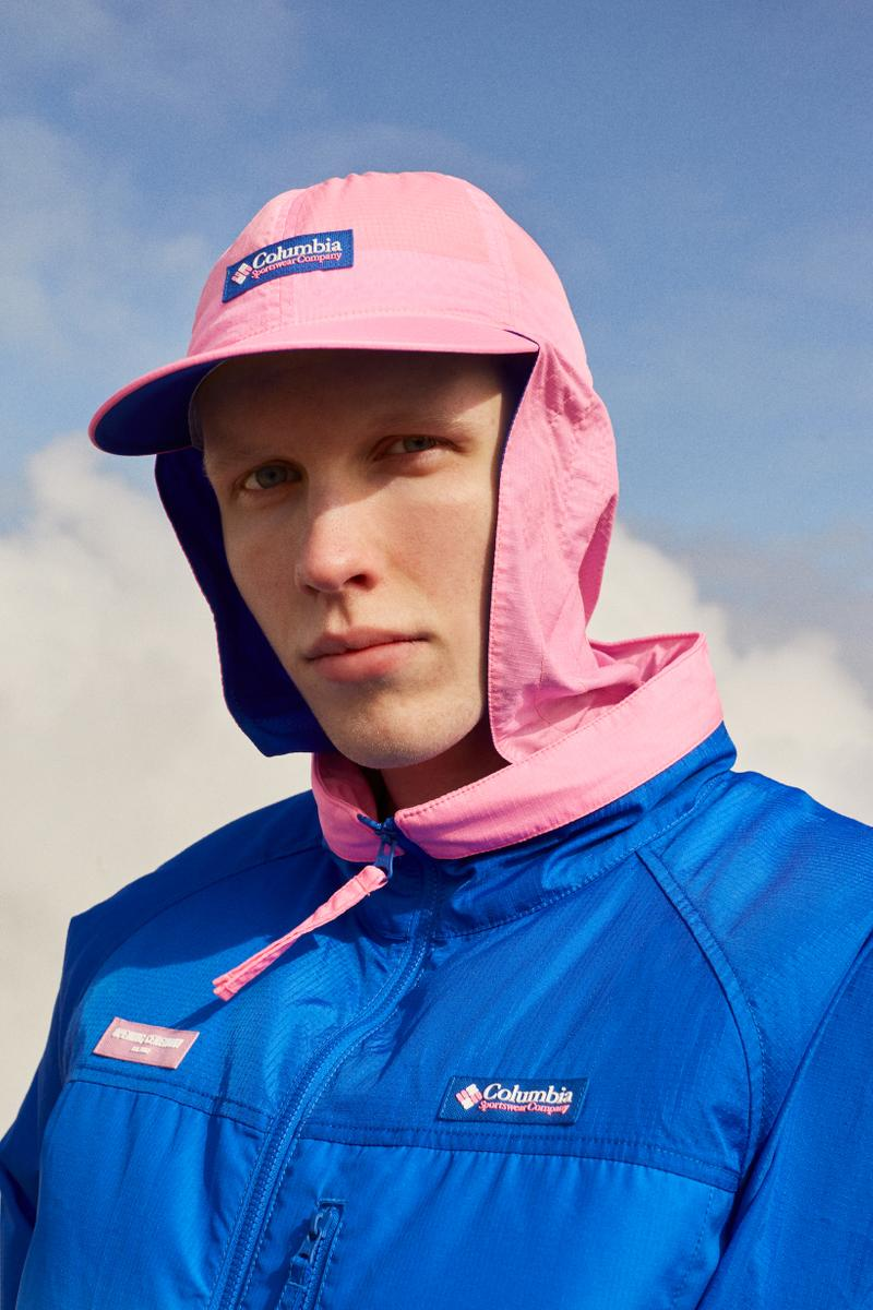 Opening Ceremony x Columbia Spring 2019 Capsule Collection Jacket Hat Pink Blue