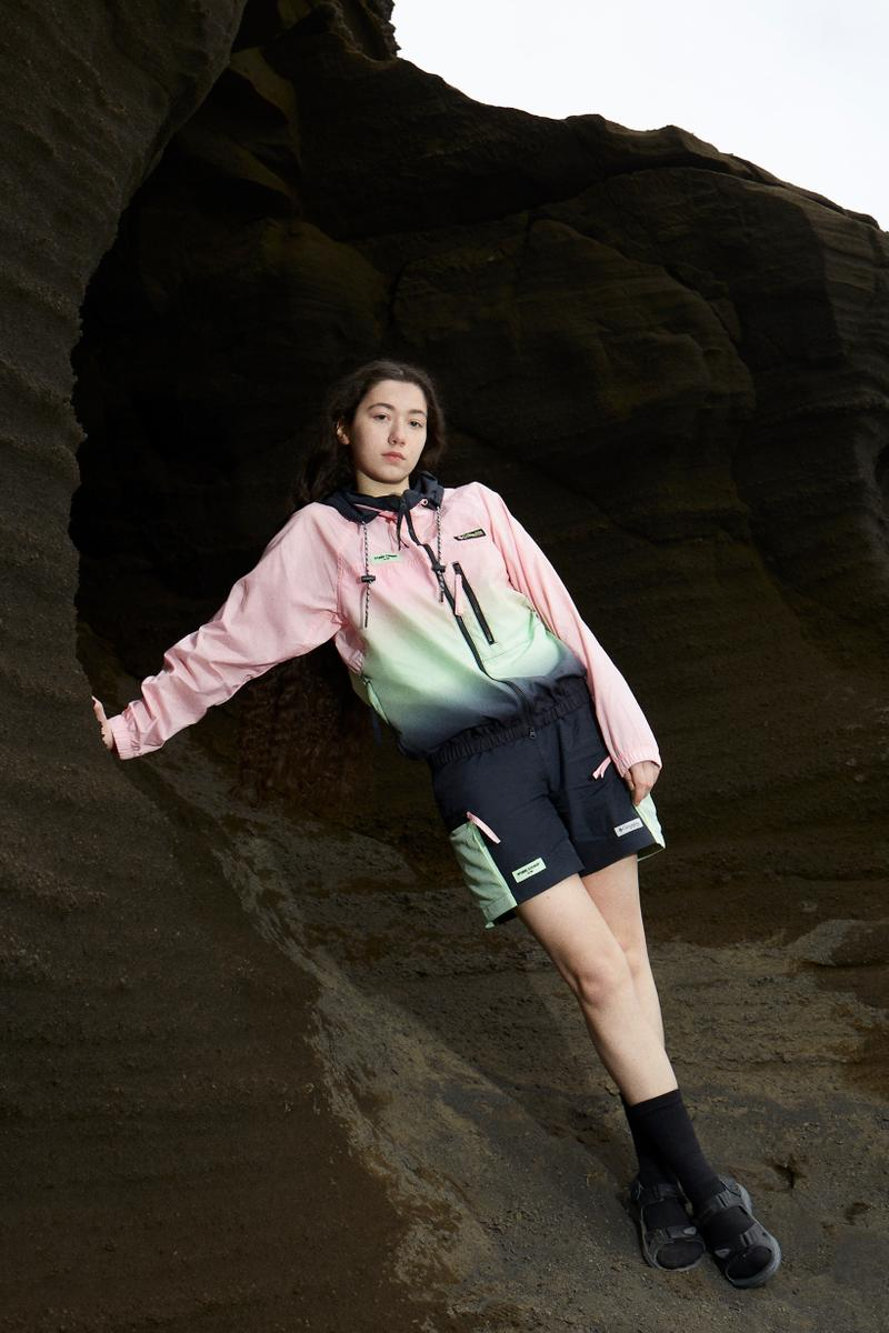 Opening Ceremony x Columbia Spring 2019 Capsule Collection Jacket Pink Green Shorts Black