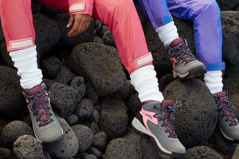 Opening Ceremony x Columbia Spring 2019 Capsule Collection Sweatpants Pink Purple Hiking Boots Grey