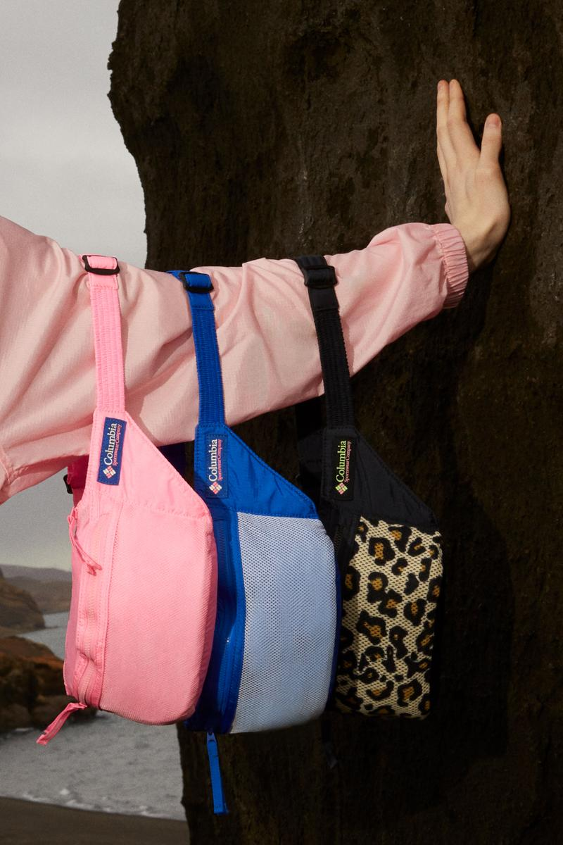 Opening Ceremony x Columbia Spring 2019 Capsule Collection Bag Pink Blue Leopard Print