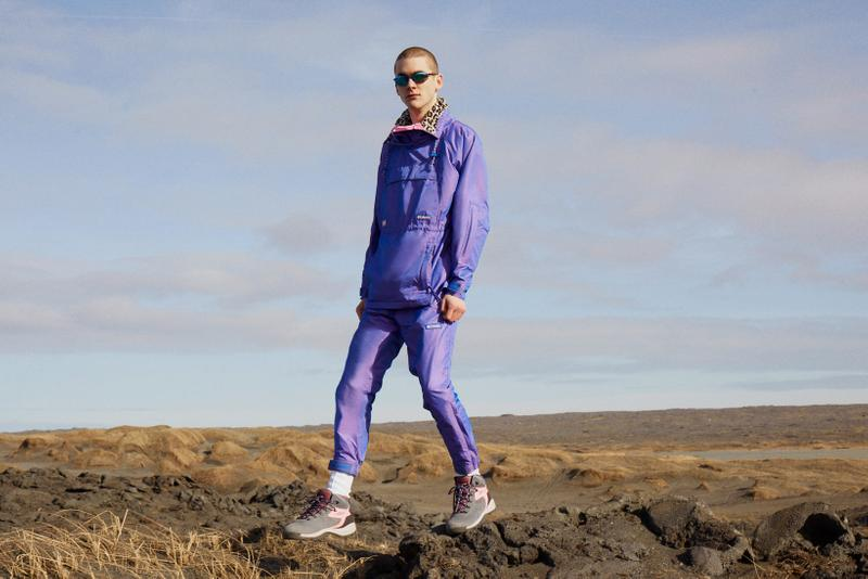 Opening Ceremony x Columbia Spring 2019 Capsule Collection Jacket Pants Purple Hiking Boots Grey