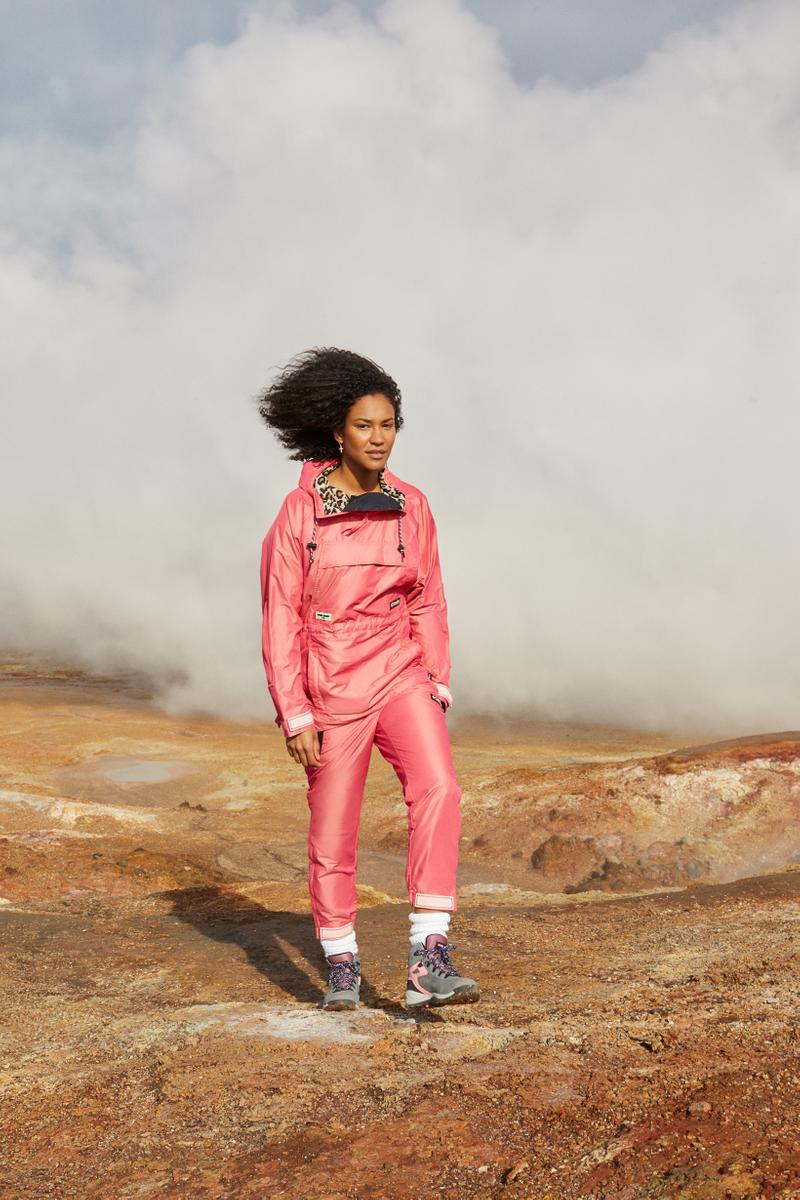 Opening Ceremony x Columbia Spring 2019 Capsule Collection Jacket Sweatpants Pink Hiking Boots Grey
