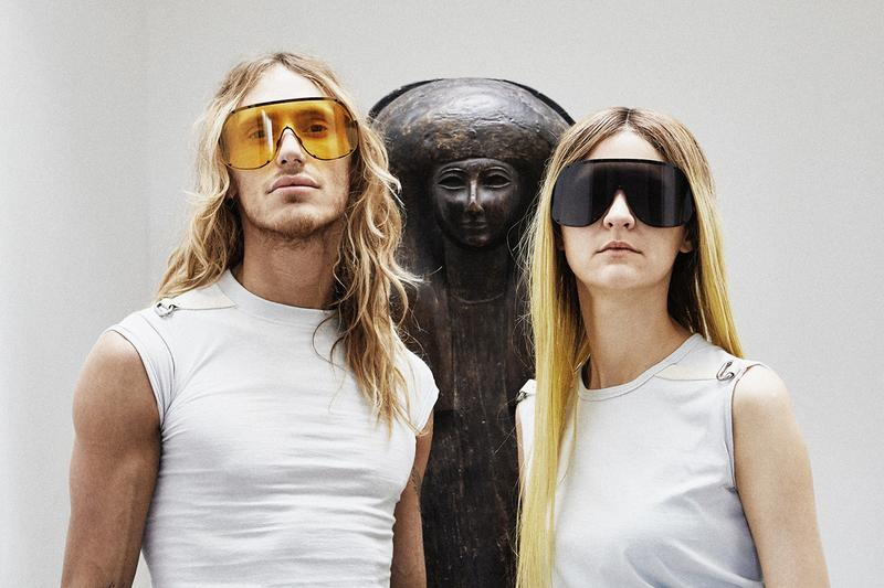 Rick Owens Sunglasses Collection Shield Yellow Black