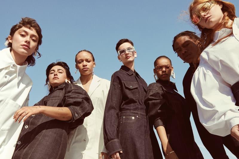 Fenty Release 5 19 Campaign Denim Dresses Blue Shirts White Rihanna