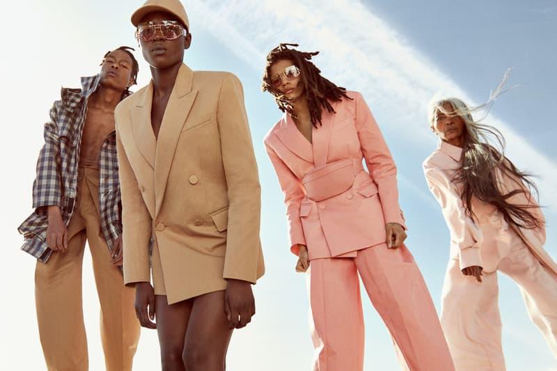 Fenty Release 5 19 Campaign Plaid Shirt Blue Blazers Pink Tan Rihanna