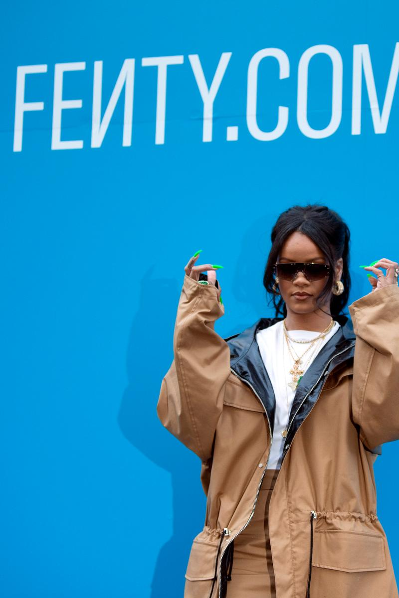 Rihanna FENTY LVMH Label Available Online Release Collection Lookbook Drop Clothes Accessories Where To Buy Fenty