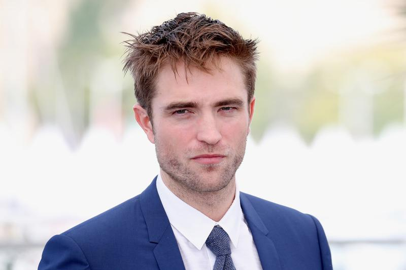 Robert Pattinson Suit Tie Blue Shirt White