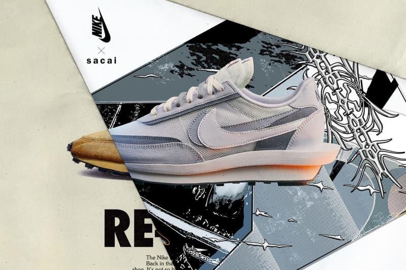 sacai x Nike LDWaffle Daybreak White Grey