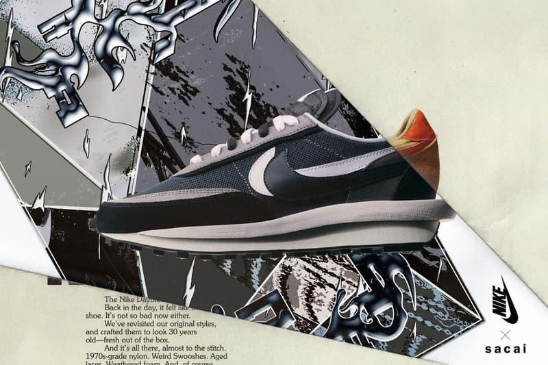 sacai x Nike LDWaffle Daybreak Black Blue