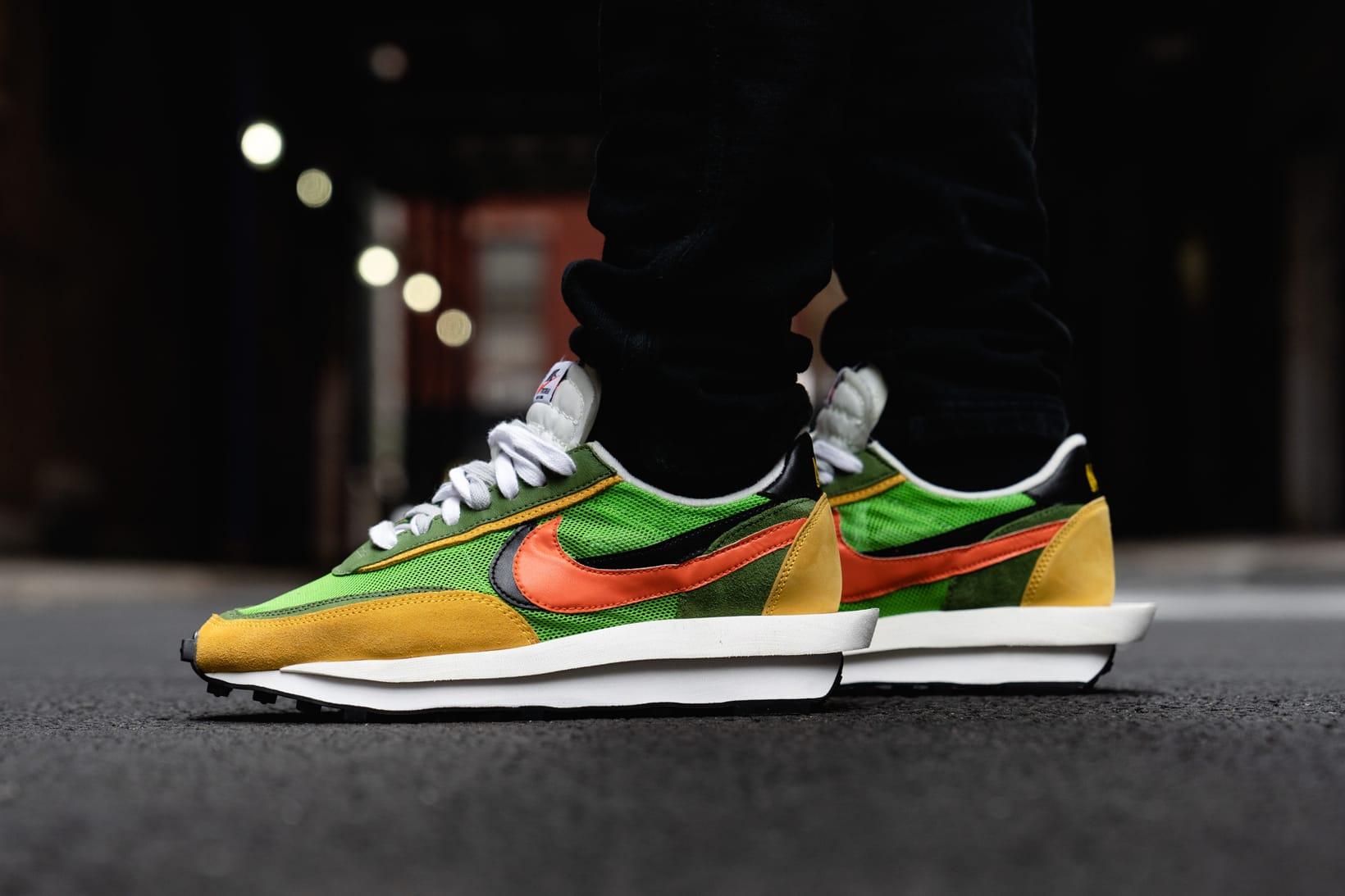 sacai x Nike LDWaffle Daybreak On Foot