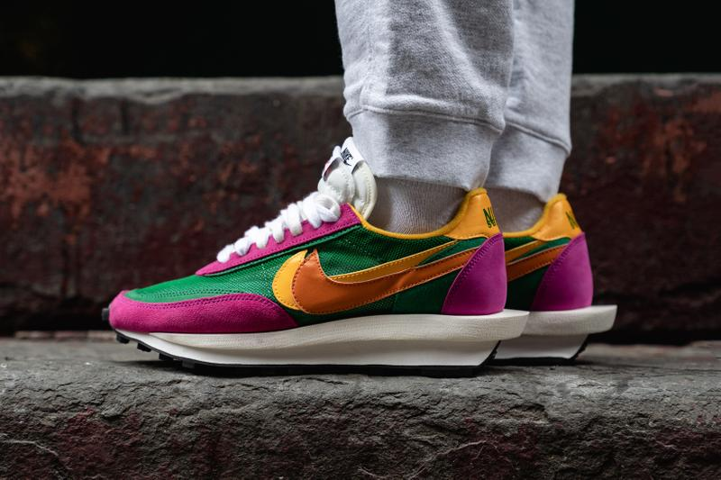 sacai x Nike LDWaffle Daybreak Collaboration Green Yellow Orange