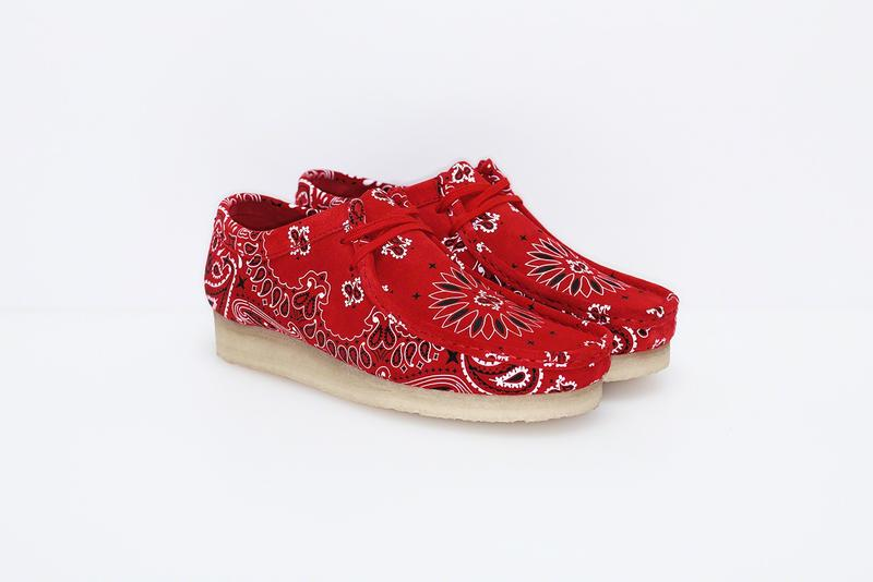 Supreme Clarks Originals 2019 Summer Wallabees Wallabee Footwear Shoes Collaboration Red Paisley Pattern