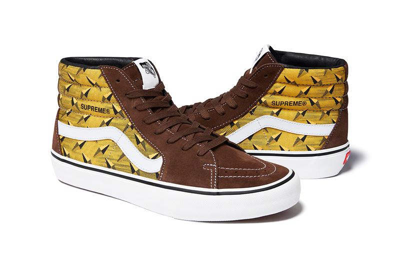 Supreme x Vans Spring Summer 2019 Diamond Sneaker Capsule Collection Sk8 Hi Pro Brown Yellow