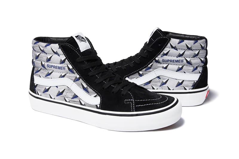 Supreme x Vans Spring Summer 2019 Diamond Sneaker Capsule Collection Sk8 Hi Pro Black Grey
