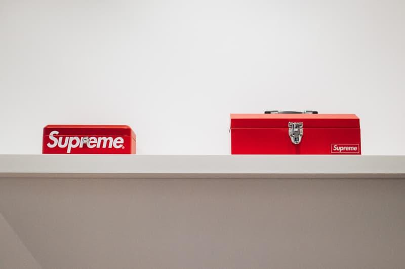 supreme accessories sothebys hong kong auction punching bag pinball machine fender guitar cash gun