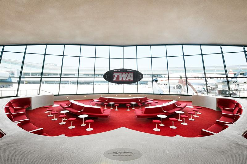 TWA Hotel JFK Airport Lounge Red White