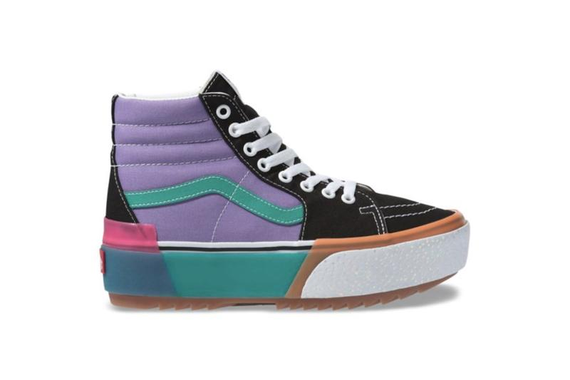 Vans Sk8-Hi Era Stacked Platform Sneaker Release Chunky Shoe Silhouette Confetti Colorful Black White