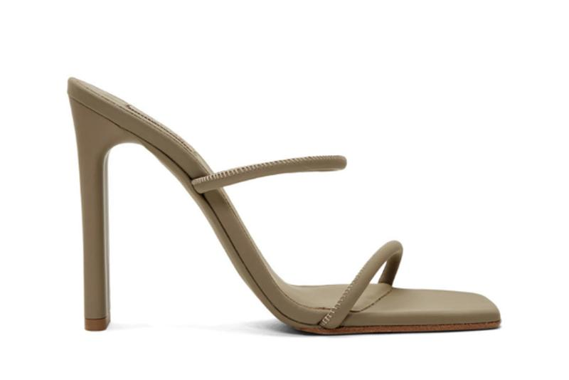 YEEZY Season 8 Collection Beige Minimalist Heel Sandals