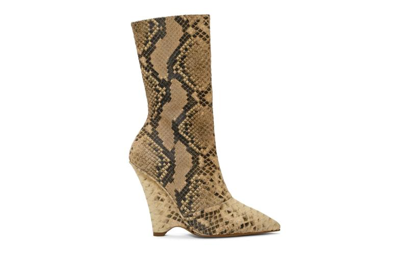 YEEZY Season 8 Collection Beige Python Wedge Boots