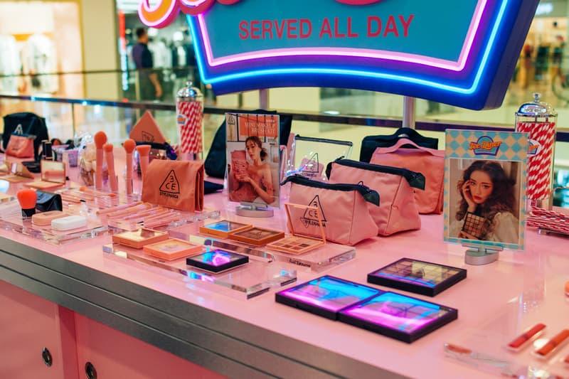 3CE Diner Pop Up Hong Kong Beauty Makeup Lipstick Eyeshadow Samples