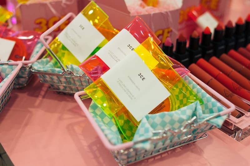3CE Diner Pop Up Hong Kong Beauty Makeup Neon Samples