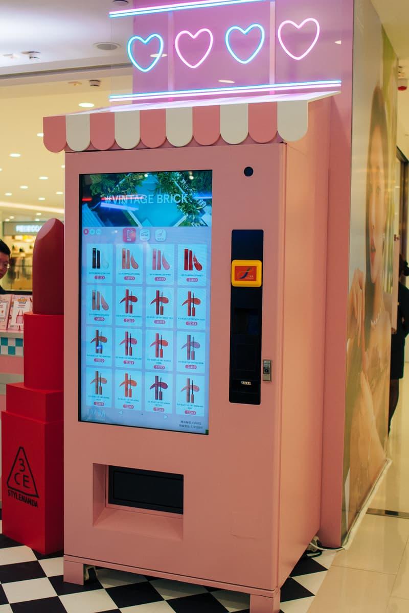 3CE Diner Pop Up Hong Kong Beauty Makeup Vending Machine