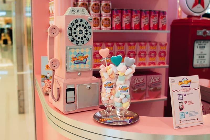 3CE Diner Pop Up Hong Kong Beauty Makeup Cereal Samples