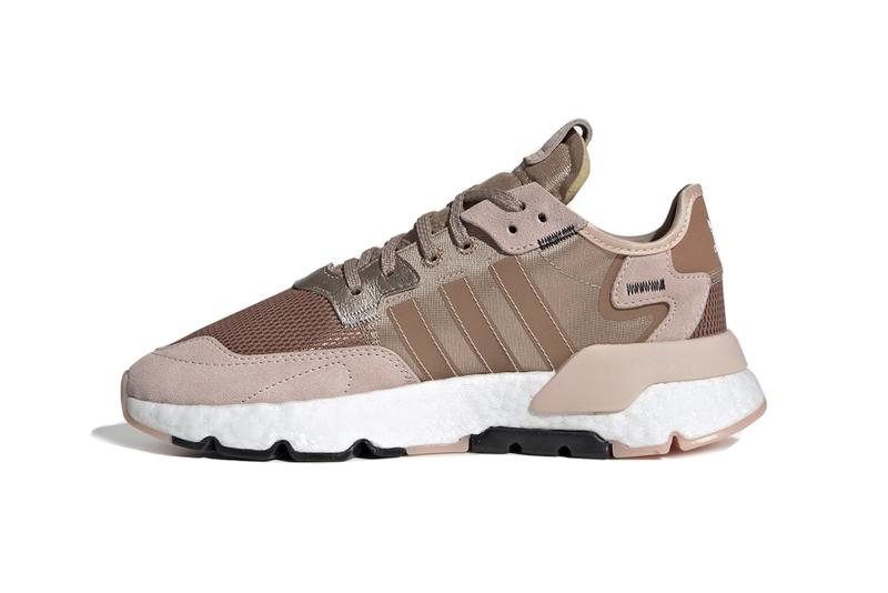 adidas Nite Jogger Metallic Rose Gold Pink Shoe Sneaker Trainer Footwear Runner Boost Shin