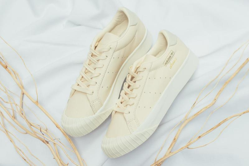 adidas Originals Everyn Cream Off White Minimal Trainers Sneakers