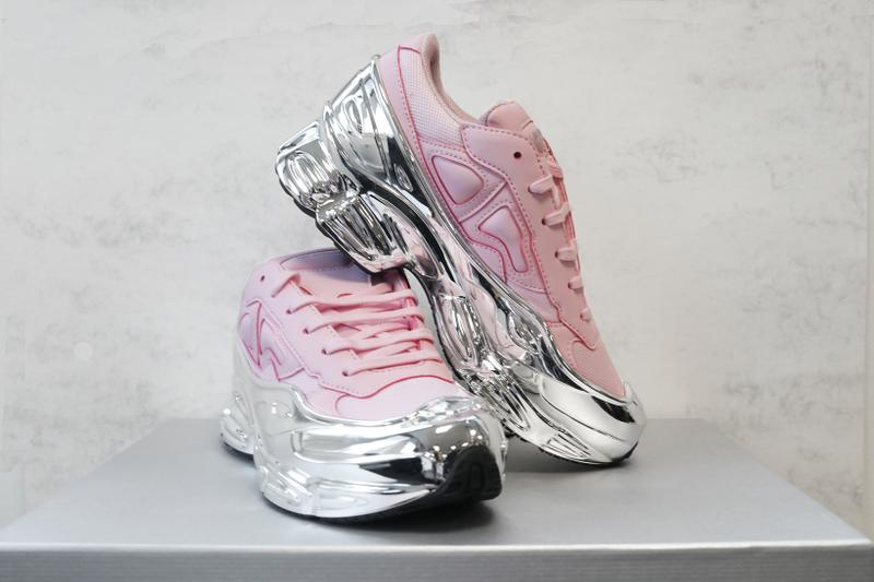 adidas originals Raf Simons RS Ozweego pastel Pink Metallic Mirror Silver Sole Sneakers Trainers
