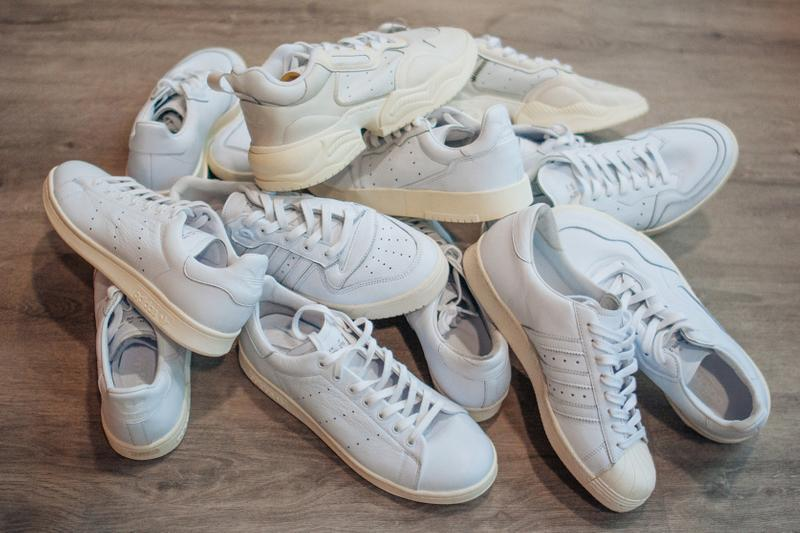 adidas originals all white sneakers trainers footwear shoes home of classics pack paris Stan Smith Superstar 80s Continental 80 Torsion Comp SC Premiere AR Trainer Nizza Rivalry Supercourt RX