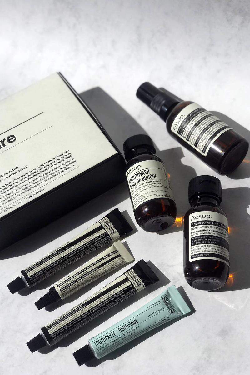 Aesop Departure Travel Kit Product Review Mouthwash Hand Soap Mist Toothpaste Masque Beauty Skincare