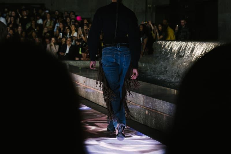 Alexander Wang Spring Summer 2020 Runway Show Rockefeller Center New York American Flag America Designer Fringe Pants