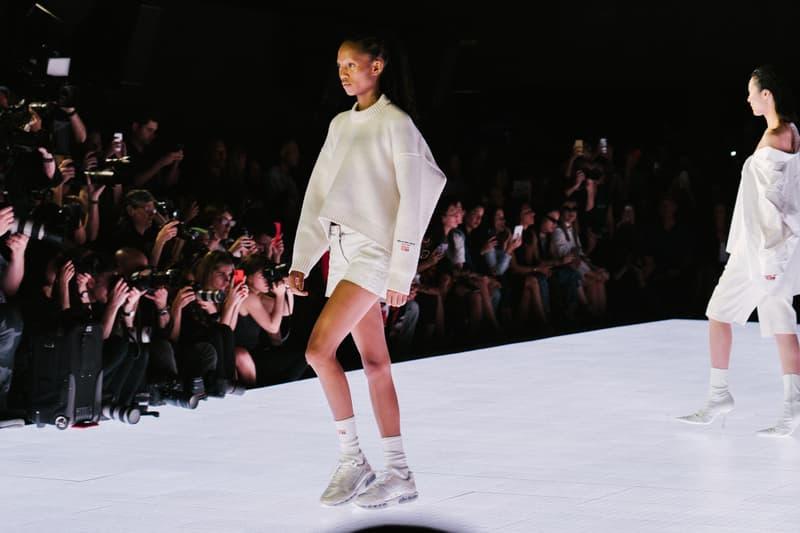 Alexander Wang Spring Summer 2020 Runway Show Rockefeller Center New York American Flag America Designer Models White Sweater Adesuwa