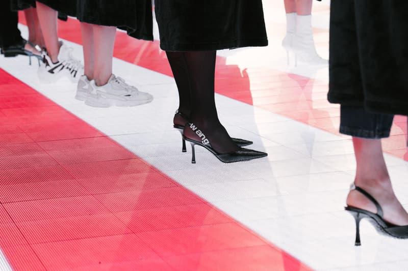 Alexander Wang Spring Summer 2020 Runway Show Rockefeller Center New York American Flag America Designer Footwear Shoes High Heels