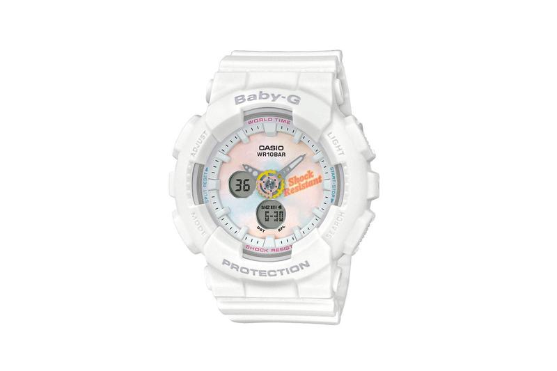 Baby-G Summer Gradation Dial Watch Collection White Yellow Pink Tie Dye