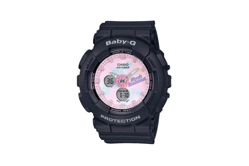 Baby-G Summer Gradation Dial Watch Collection Black Pink Tie Dye