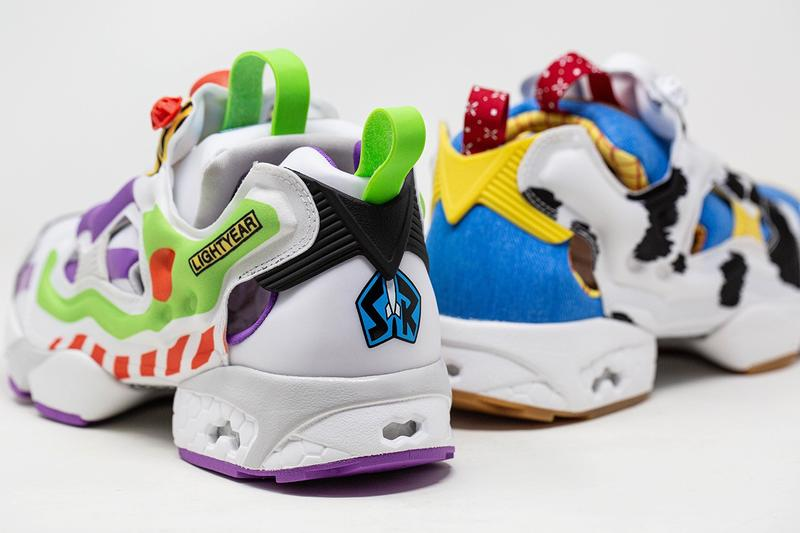 BAIT x Disney Pixar x Reebok Instapump Fury Toy Story White Green Red Blue Woody Buzz Lightyear