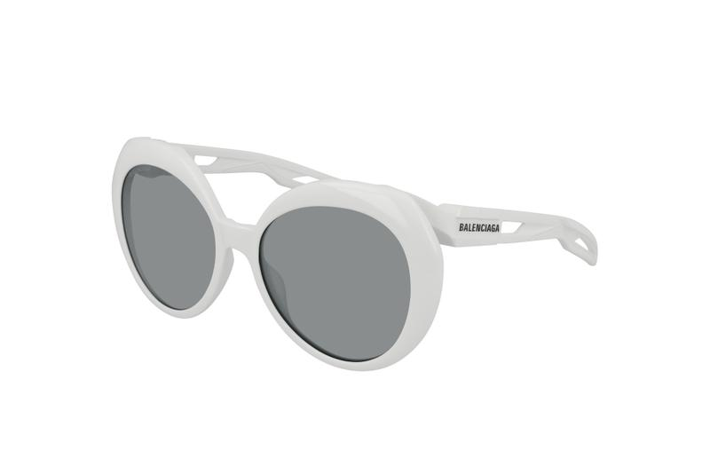 Balenciaga Summer 2019 Eyewear Collection Range Sunglasses Shades Frames Retro Futuristic Designer Logo Mirror Lenses