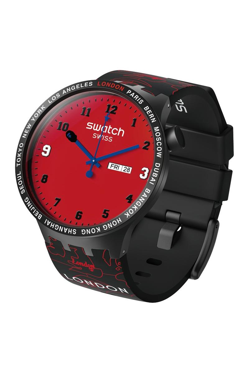 BAPE A Bathing Ape x Swatch Watch Collaboration Red Black