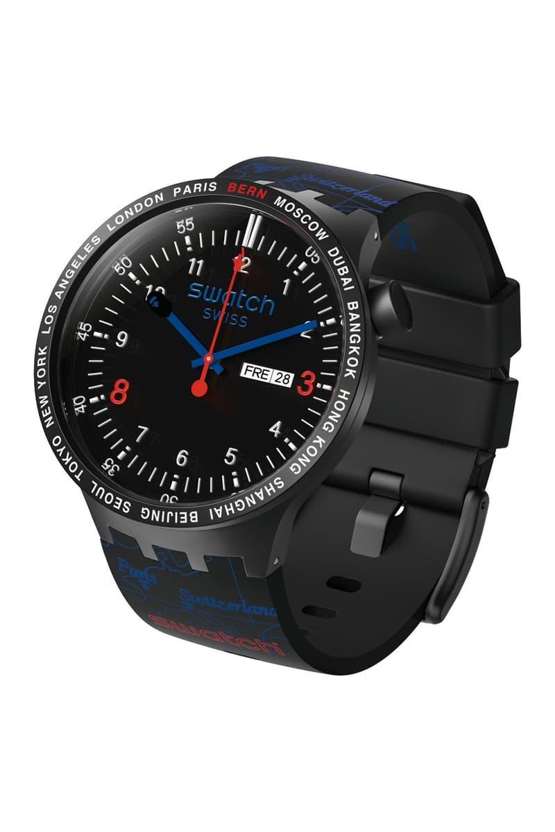 BAPE A Bathing Ape x Swatch Watch Collaboration Black Silver