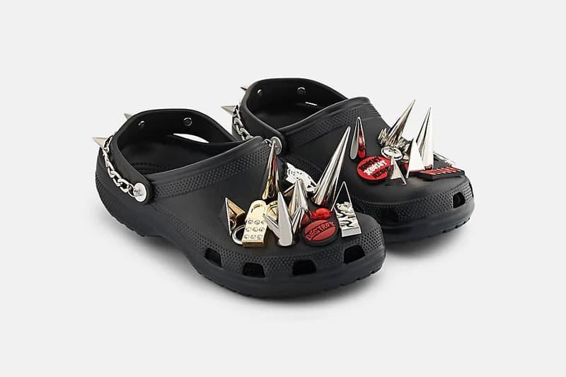 Barneys x Crocs Punk Studded Rubber Clogs Black