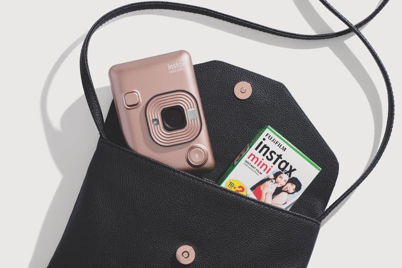 fujifilm instax mini LiPlay rose gold blush pink instant camera film