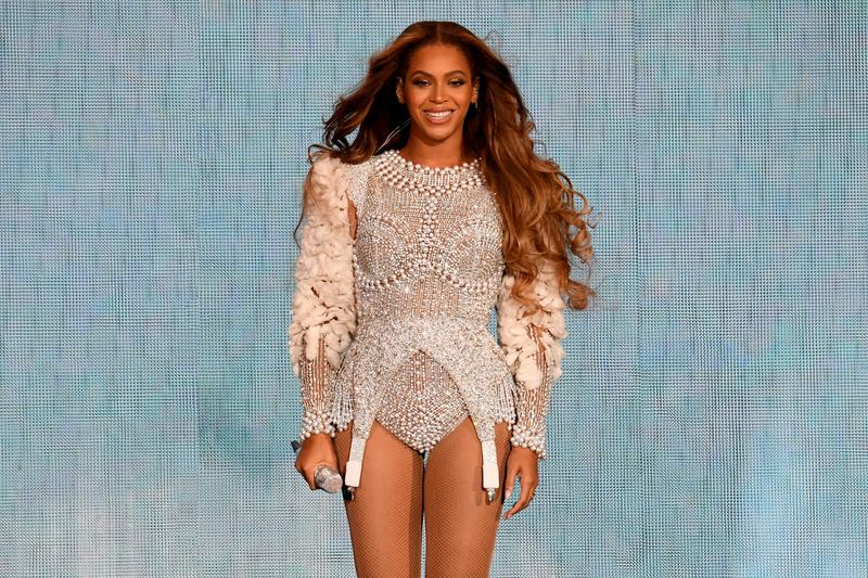Beyonce Knowles On The Run II Tour Los Angeles Bodysuit Cream