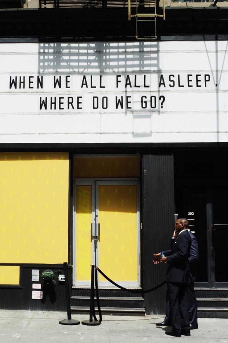 Billie Eilish New York City Pop Up Sign