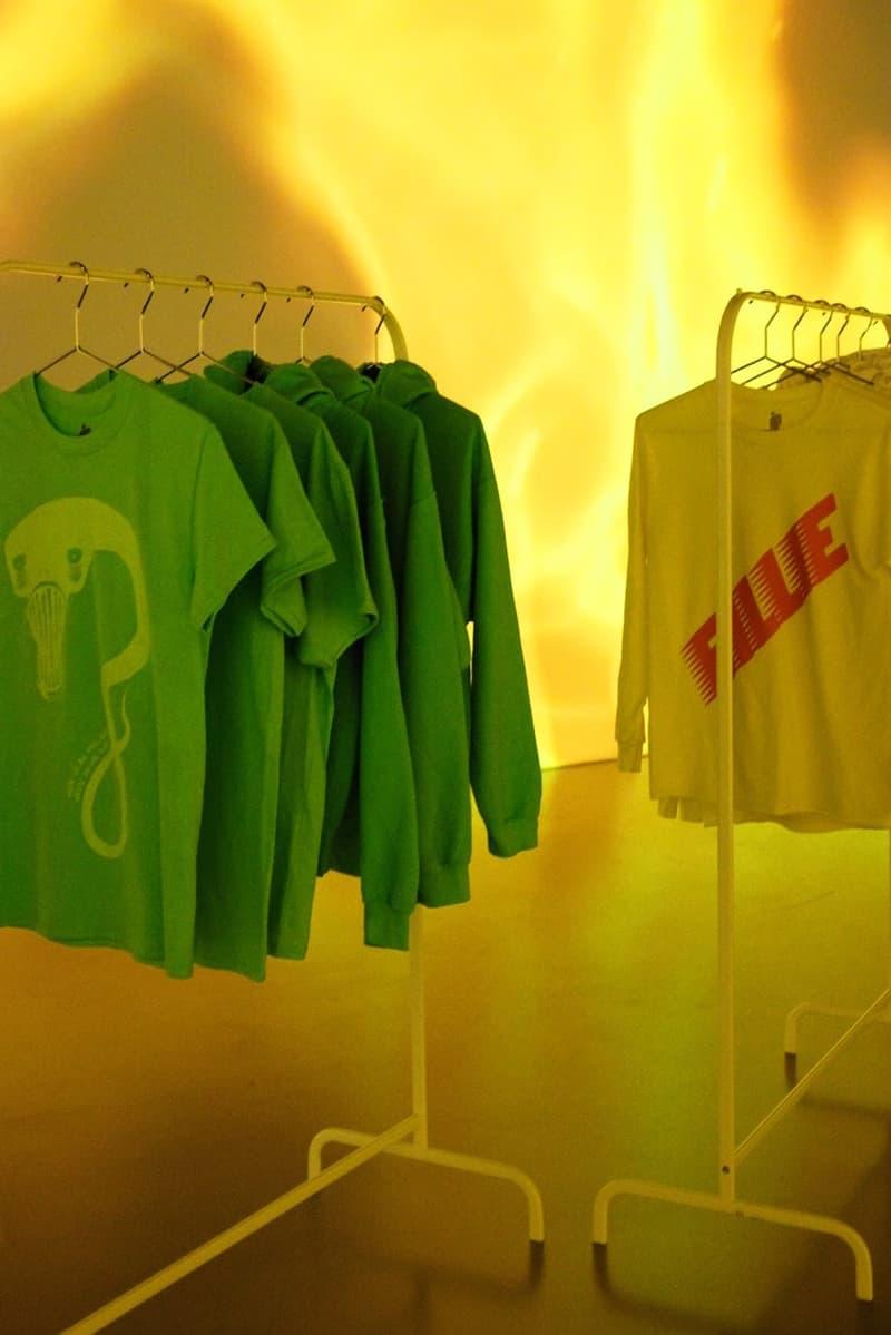Billie Eilish New York City Pop Up Tour Merch Shirts White Green