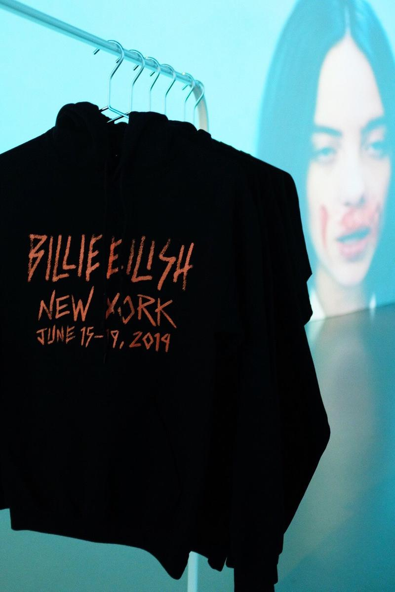 Billie Eilish New York City Tour Merch Pop Up