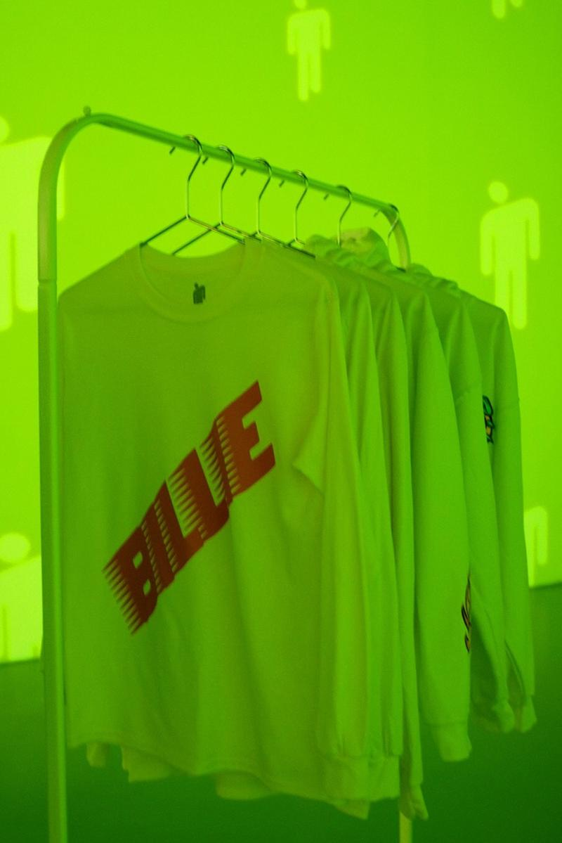Billie Eilish New York City Pop Up Tour Merch Shirts Green